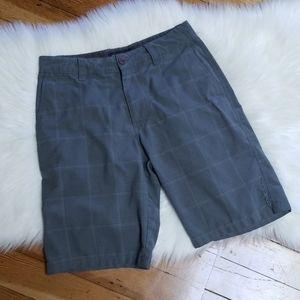 O'Neill gray plaid Bermuda shorts